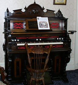 Pump Organ in the Victorian Parlor