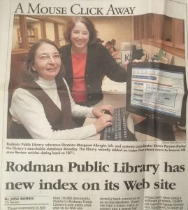 Karen Perone and Margaret Albright show the Alliance Index